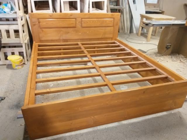 """Спалня с дървена подматрачна рамка, материал масив Бор, модел """"Стандарт"""""""