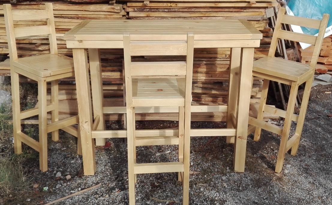 Маса с бар столове