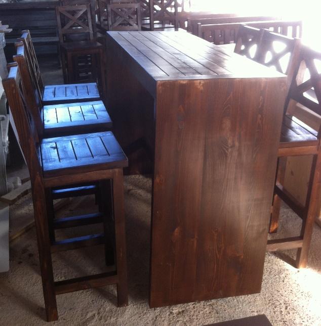 Високи маси и столове за заведение