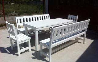 градински маса с пейки комплект 10 места