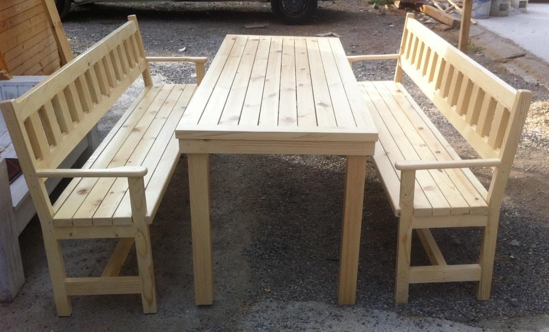 градинска маса с пейки