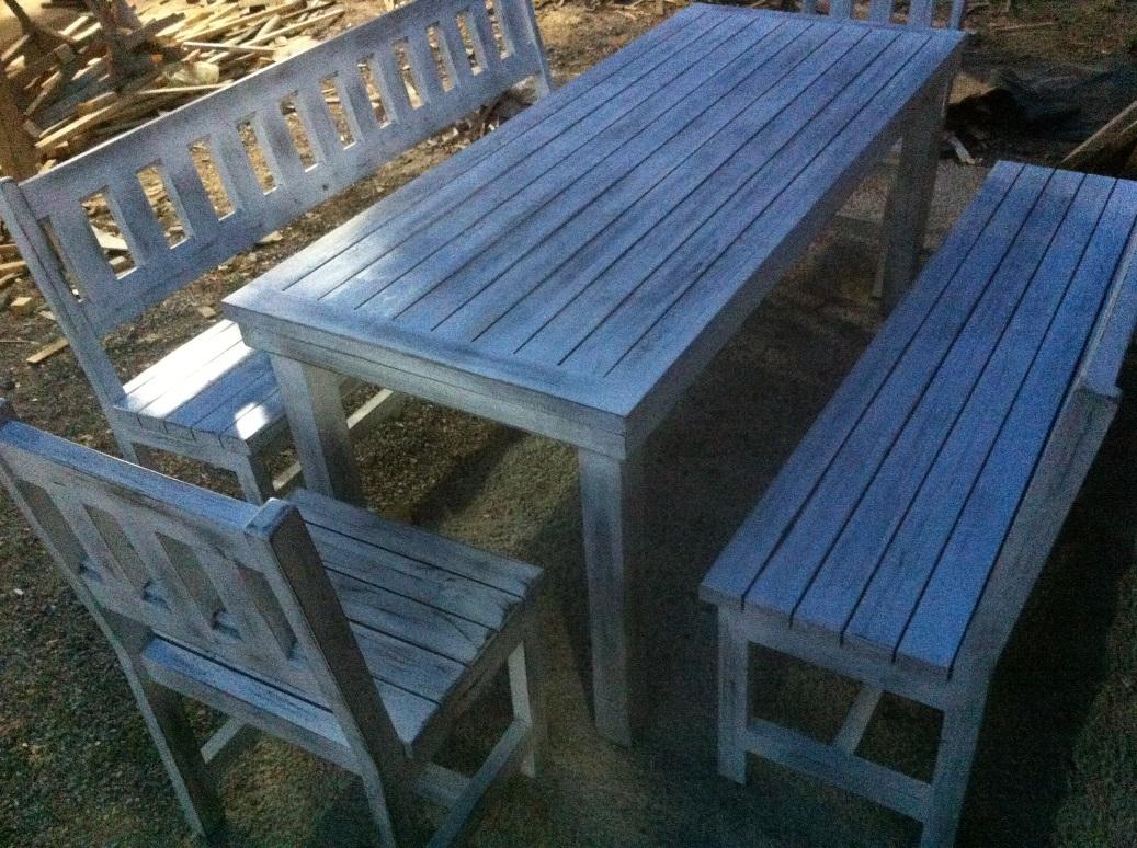 градинска мебел, състарено