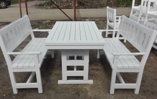 Маса с две пейки, 120см. , цвят бяло