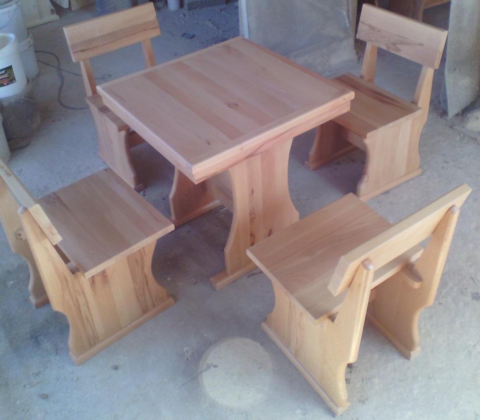 масив бук маса със столове