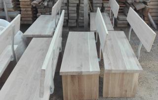 дъбови масивни пейки