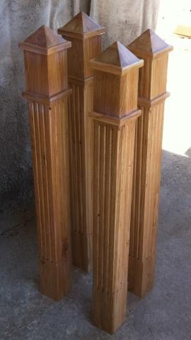 дъбови колони за парапет