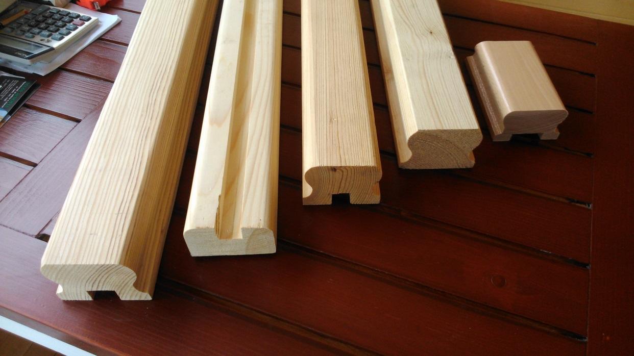 дървени профили за парапет