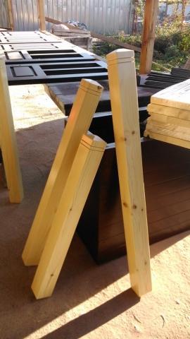Дървени колони за парапети