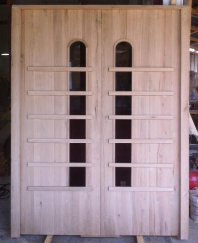 Дъбова двукрила врата