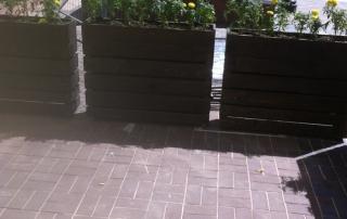 Дървени кашпи за цветя